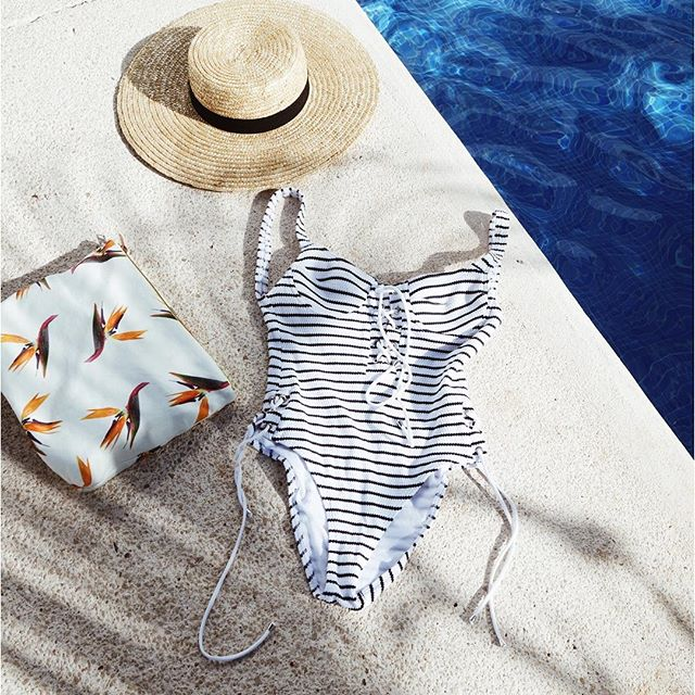 Classic striped one-piece